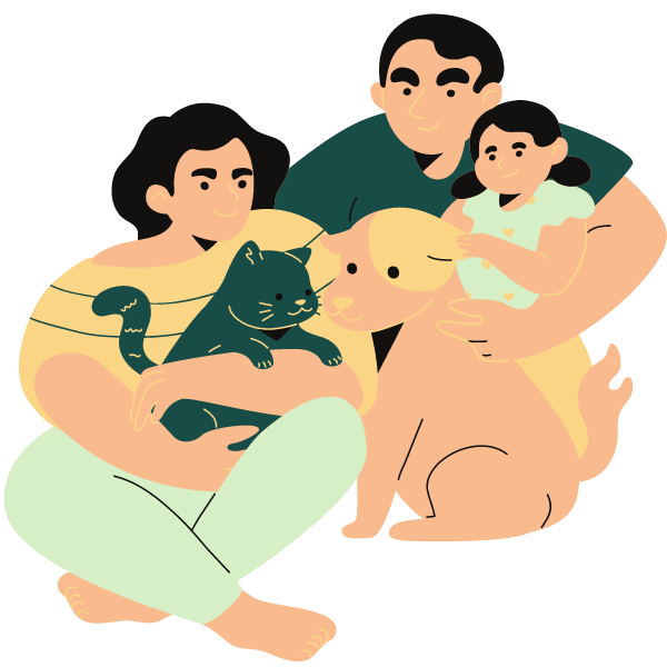 family-with-pets
